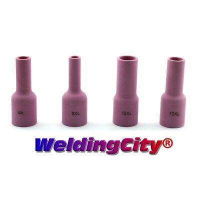 4-pk Assorted Tig Welding Large Gas Lens Ex-long Ceramic Cup 6 8 10 12 Usa