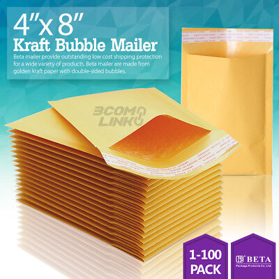 4x8 Kraft Self Seal Bubble Mailer Padded Envelope 000 4x8 Inch 2550100500