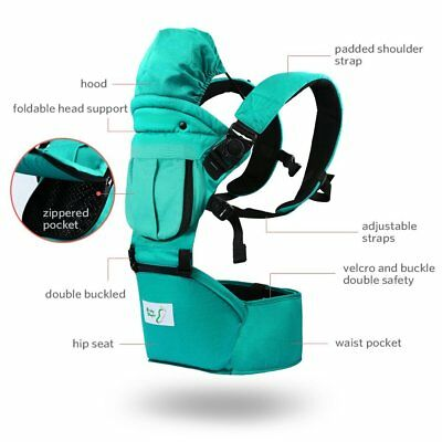 Baby Carrier- BK11PM44- 6 in 1  Baby Steps w Hip Seat, TEAL- Great Quality--NEW! for sale  Shipping to South Africa