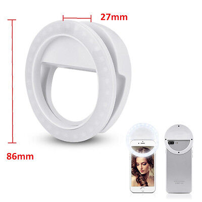 Selfie Portable LED Lamp Ring Fill Light Camera Photography for Universal Phone