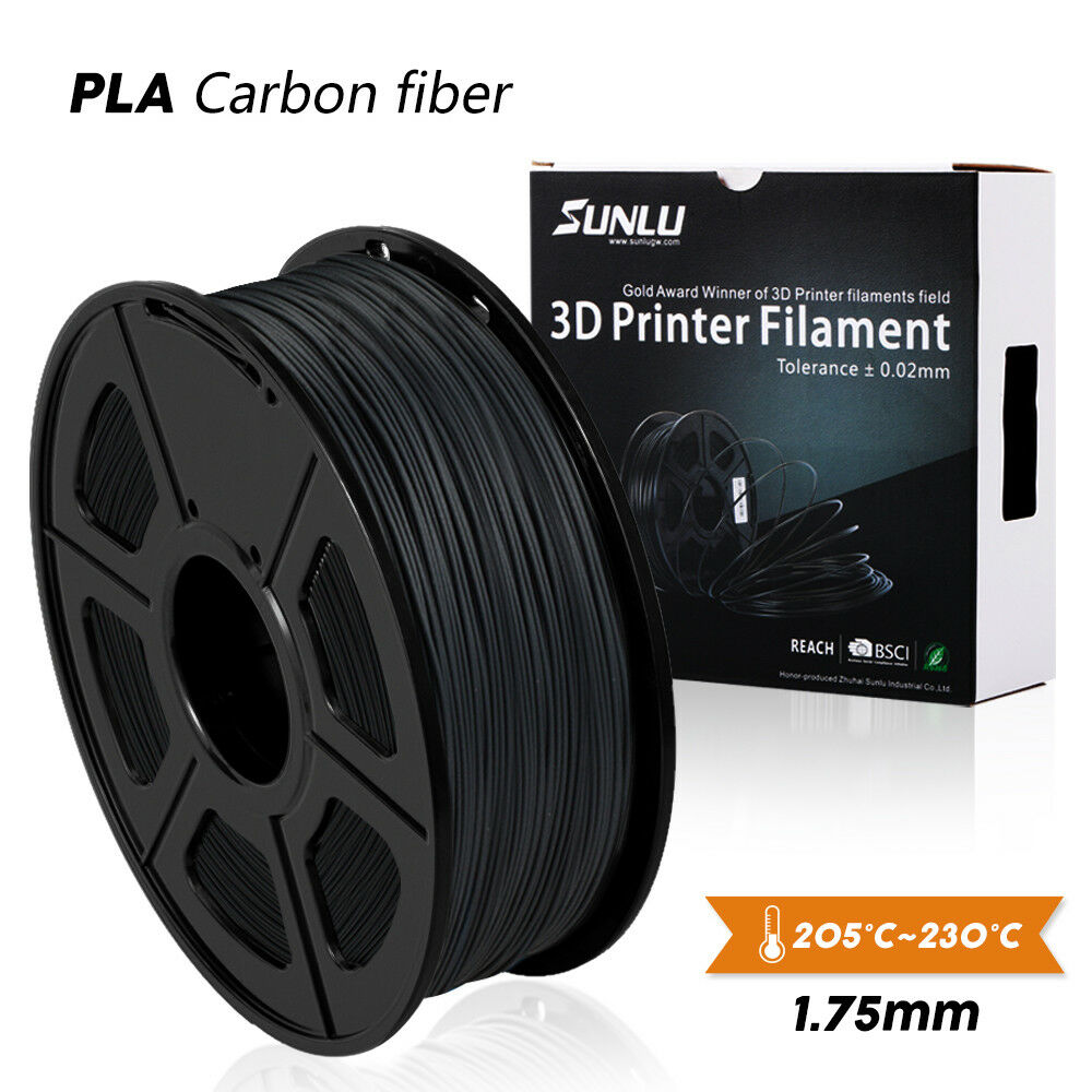 SUNLU 3D Printer Filament PLA Carbon Fiber 1.75mm 1KG/2.2LBS