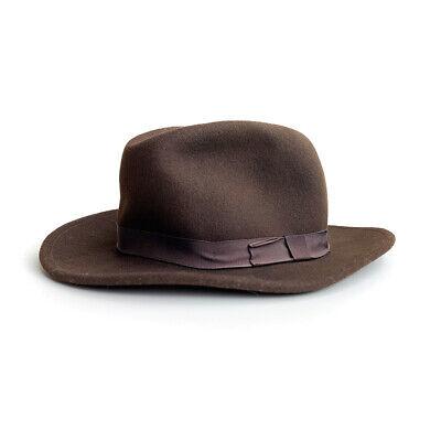 Bailey of Hollywood Mens XL 100% Wool Brown Wide Brim Fedora Hat