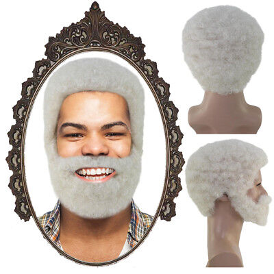 White Wig with Full Beard Set Cosplay Uncle Drew Halloween Cosplay Party HM-1090](White Beard Wig)