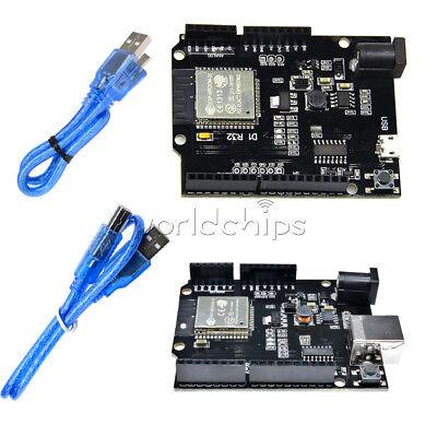 Esp32 Wifi Bluetooth Board 4mb Flash Uno D1 R32 Ch340 Shield Usb For Arduino