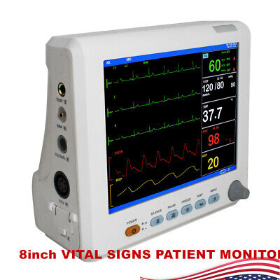 Cardiac Vital Sign Patient Monitor High-resolution Lcd Color Screen Monitor New