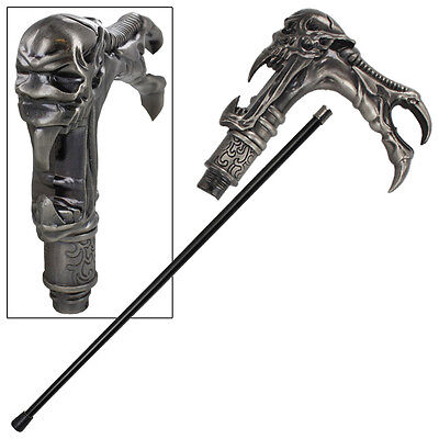 Galaxy Cyborg Alien Steel Shaft Walking Cane Stick