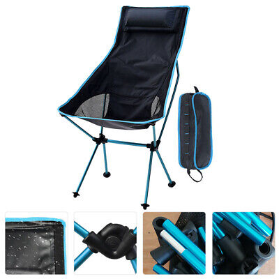 Ultralight High Back Folding Camping Chair With Pillow Outdoor Backpacking New