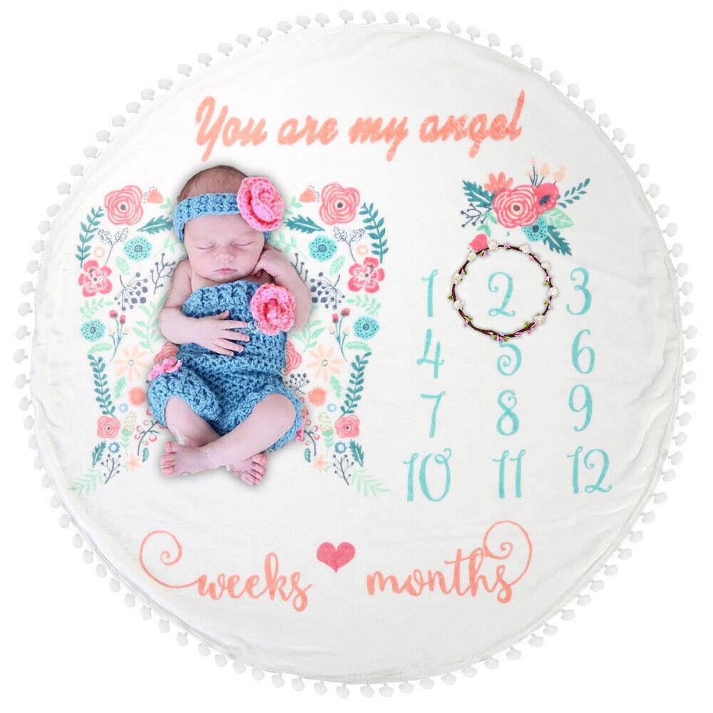 Baby Monthly Milestone Blanket Super soft Newborn Boy & Girl