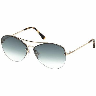 Tom Ford Margret Women's Sunglasses w/Blue Gradient Lens FT0566 (Tom Ford Aviators Women)
