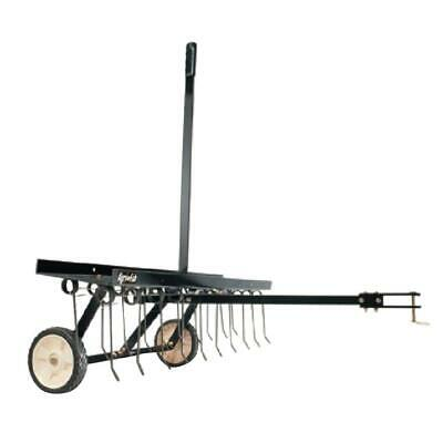 Lawn Dethatcher 40 in. Tow Behind Universal Hitch Tractor Yard Work Outdoor NEW