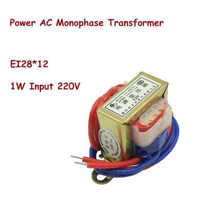 1w Ei28 Ferrite Core Input 220v Vertical Electric Power Ac Monophase Transformer