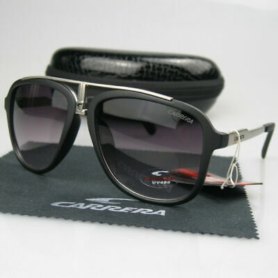 Carrera Glasses Arrival Men Womens Retro Sunglasses Sport Matte Black Frame +Box