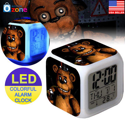 Five Nights At Freddy's 7 Color LED Alarm Clock Kids Toy Gift (Five Freddy's At Night)