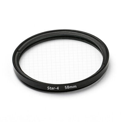 (58mm STAR 4 Point Cross Screen Lens Filter Protector Cover for Canon Nikon Sony)