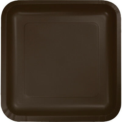 - (36 Pack) Brown Square 9-inch Paper Plates Wedding Birthday Shower Party