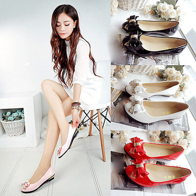 Spring Summer Women's Flat Shoes Toe Flat Heel Bow Tie Daily Work Casual Shoes