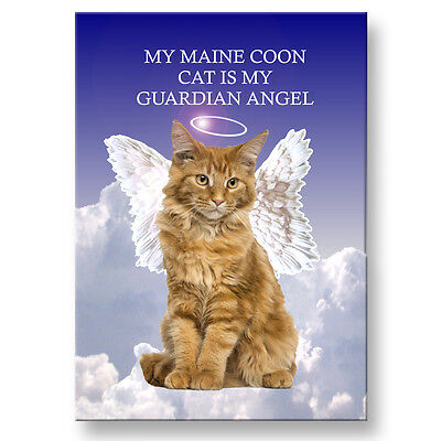 MAINE COON CAT Guardian Angel Fridge Magnet No 2 Pet Loss