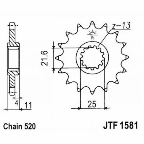 JT sprocket 1581 z13 Yamaha 600 fzs fazer (rj02) 2004-2008