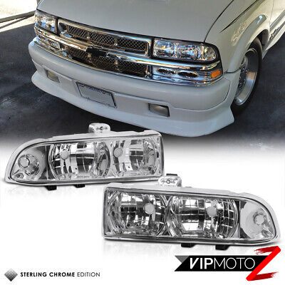 Left+Right Crystal Clear Headlight+Corner Signal Lamp 98-04 Chevy S10 Blazer