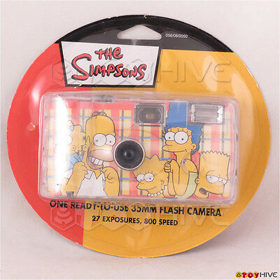 The Simpsons collectible single use 35mm flash camera (expired film) sealed pack