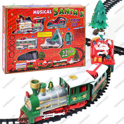 Christmas Train Set Toy for Under The Tree with Music, +3 Year Kids (22 pcs)