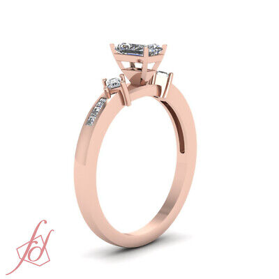 .60 Ct Rose Gold Radiant Cut Diamond Ring With Channel Set Princess Cuts GIA 2