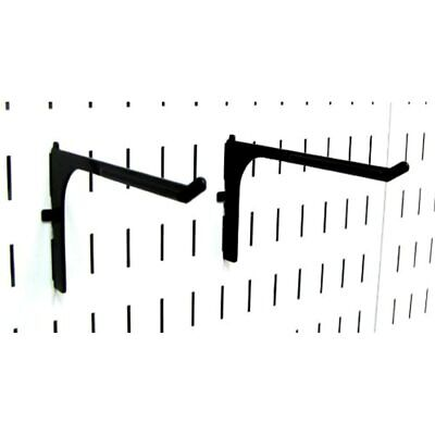 Wall Control Pegboard 6in Reach Extended Slotted Hook Pair - Metal Hooks For And