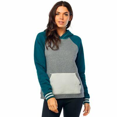 Neue Womens Flat (Fox Flat Track Po Girl Women Frauen Hoody Pullover Pulli Grau Grün Gr. L *NEU*)