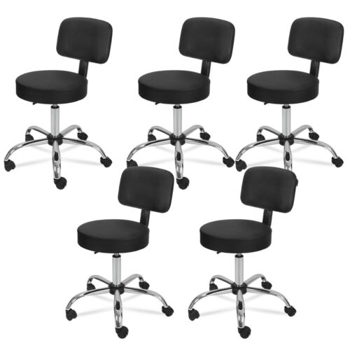 5X Adjustable Salon Stool Hydraulic Rolling Chair Facial Massage Spa W/Back Rest Health & Beauty
