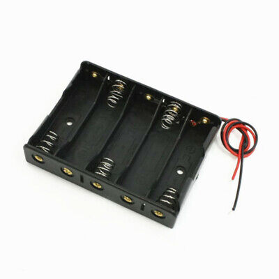Plastic Battery Storage Case Box Holder For 5 X Aa 5xaa 2a 7.5v Wire Leads