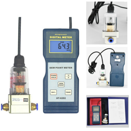 Digital Dew Point Meter Temp Humidity Tester Thermo Hygrometer Indicator