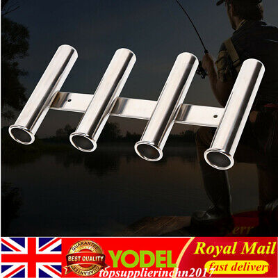 Fishing Rod Holder 304 Stainless Steel Marine Boat Yacht for 4 Rod UK