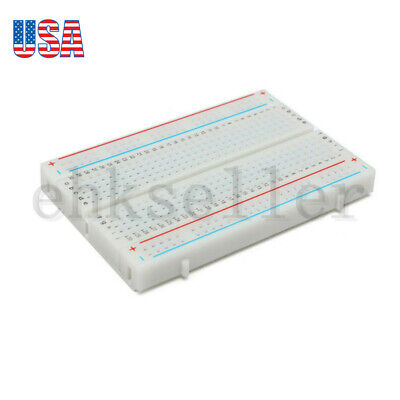 8855 Electronic Circuit Assembly Solderless Breadboard Bread Board 400 Contacts