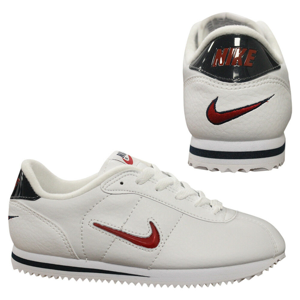 best service 54500 5a46a Details about Nike Cortez Deluxe GS Juniors Older Kids White Lace Up  Trainers 304396 162 B3D