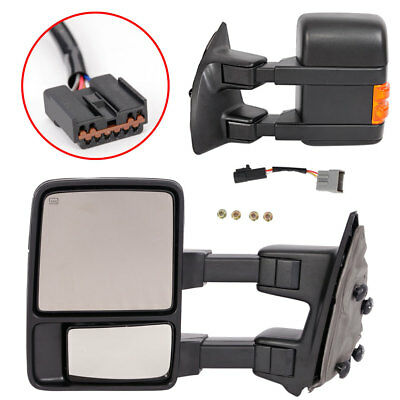 For 1999-2007 Ford F250/F350 Super Duty Power+Heated+Signal Towing Side Mirrors