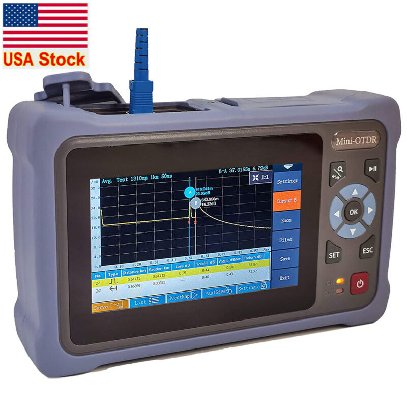New SM OTDR 1310/1550nm 26/24dB 4.3 inches Touch Screen Optical Network Tester