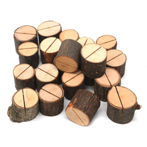 50 x Holz Tischkartenhalter Platzkartenhalter Namenskarten Tischdeko