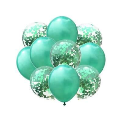 Konfetti Luftballon Set Geburtstag Party Baby Shower Hochzeit Deko Ballons Grün ()