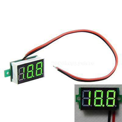 Mini Dc2.4-30v Green Led Panel 3-digital Display Two Wire Voltage Voltmeter Hysg
