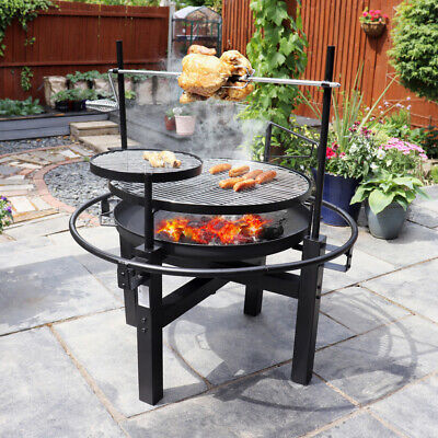 ROTISSERIE OUTDOOR BBQ GRILL SKEWER WARMING PLATE OUTDOOR COOKING Wido