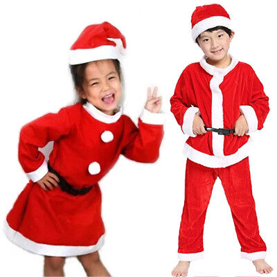 Santa Clause Christmas Costume Kids Boy Girls Sets Party Shows Clothes 1-6Years](Santa Costume Kids)