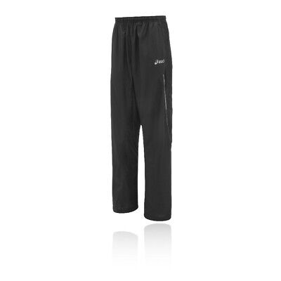 Asics Mens Hermes Woven Running Pants Trousers Bottoms Black Sports Breathable