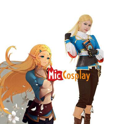 Female Princess Zelda Cosplay Costume of The Legend of Zelda Breath of the Wild (Legend Of Zelda Zelda Costume)