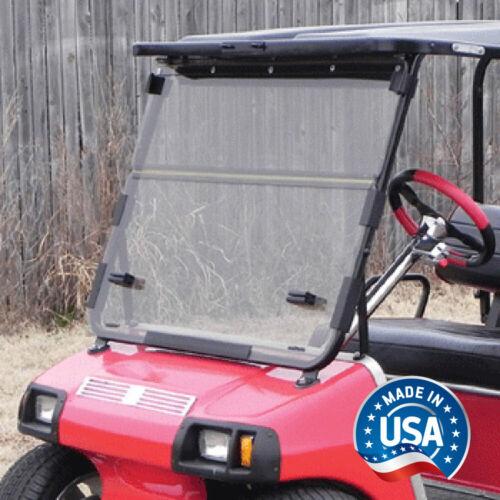 Club Car DS (82-00.5) Clear Impact Modified Fold Down Golf Cart Windshield
