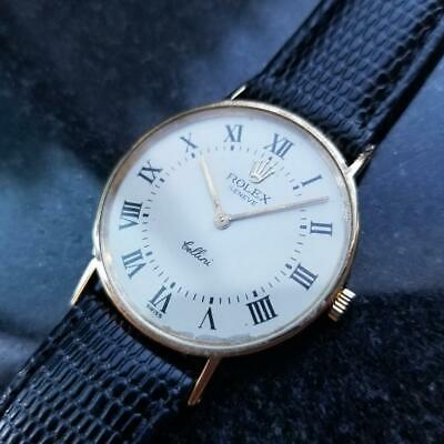 ROLEX Men's 18K Gold Rolex Cellini Geneve 3833 Manual-Wind, c.1970s Swiss LV801