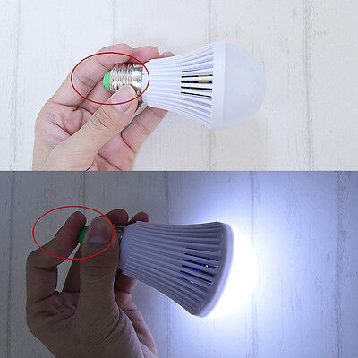 Energy Saving Battery - E27Energy Saving LED Intelligent Lamp Emergency light Battery Rechargeable Bulb