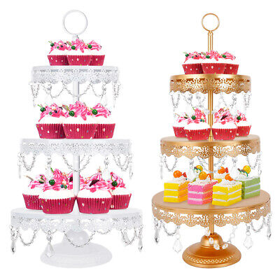 3Tier Metal Cupcake Stand Crystal Cake Dessert Wedding Event Party Display Tower