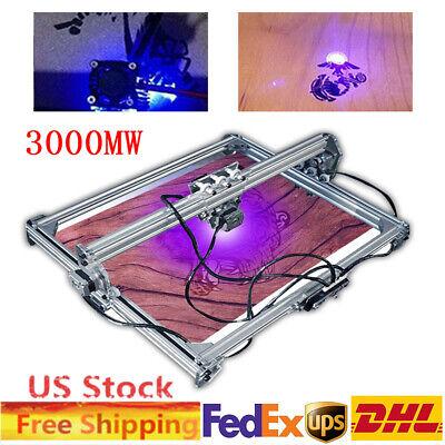 Desktop Mini Laser Engraver Kit Cnc 3000mw Diy Milling Carving Machines 50x65cm