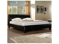 BRAND NEW-Kingsize Leather Bed/Single/Double Leather Bed With Deep-Quilted Dual Sided Mattress