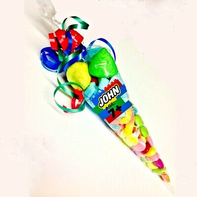 Lego Color theme sweet cone pre-filled children party favors birthday celebrate (Lego Themed Party)